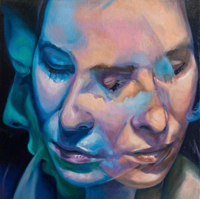 Художник показывает непостоянство человеческой личности Скотт Хатчинсон, живопись, идентичность человека, искусство, картины, необычно, творчество, художник