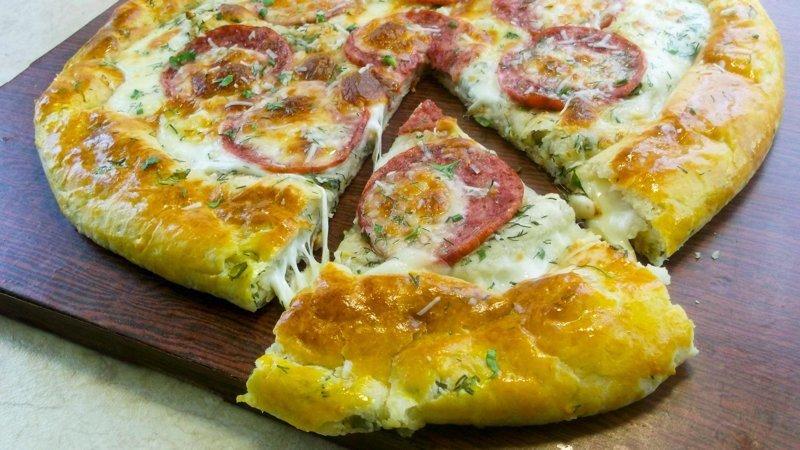 Корочка у пиццы - самое вкусное! видео, еда, кулинария, простой рецепт, рецепт