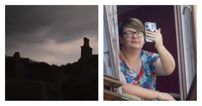 Во время записи грозы в телефон попала молния: видео ynews, молния, телефон, удар молнии, шотландия