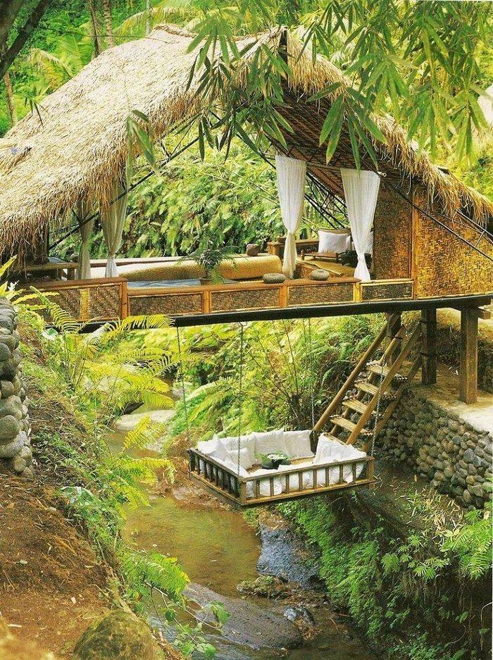9. Красивые дома, Пляжный домик, бунгало, на море, отпуск, природа, у моря