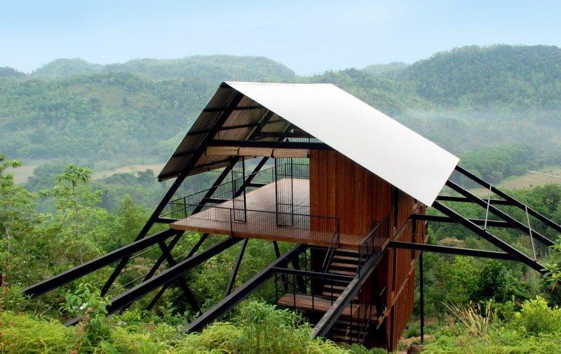 4. Бунгало от Narein Perera на Шри-Ланке Красивые дома, Пляжный домик, бунгало, на море, отпуск, природа, у моря