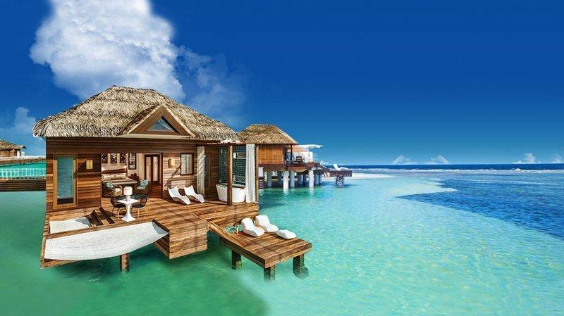 1. Сандалс Юг Кост, Ямайка Красивые дома, Пляжный домик, бунгало, на море, отпуск, природа, у моря