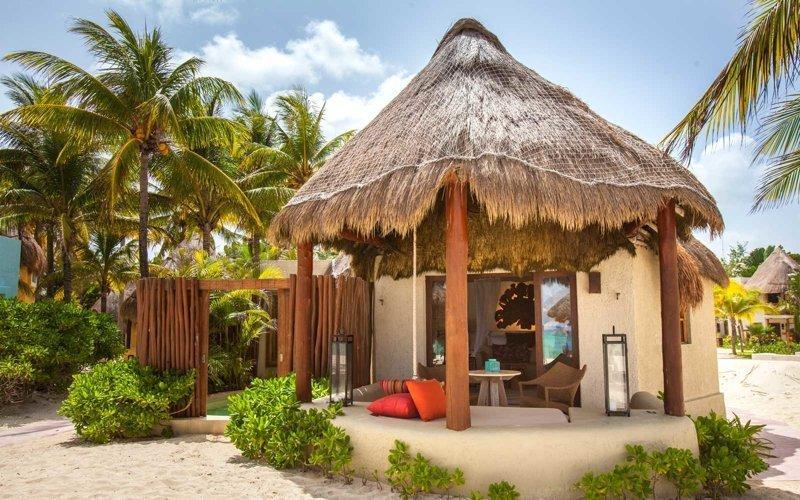 12. Бунгало в Мексике Красивые дома, Пляжный домик, бунгало, на море, отпуск, природа, у моря