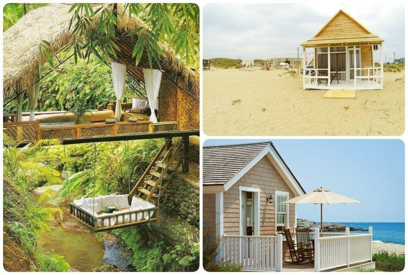 Хочется просто взять и уехать к морю, а не вот это всё Красивые дома, Пляжный домик, бунгало, на море, отпуск, природа, у моря