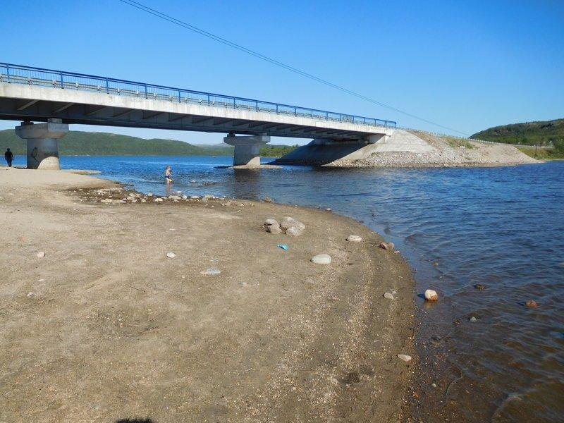 Мост через реку Ура 29 июля 2018 год, лето, мурманск, пляжи