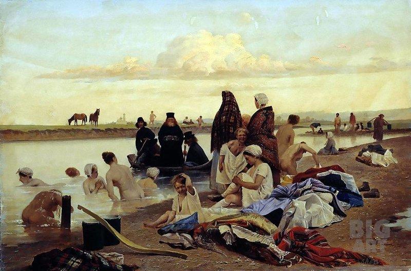 """Разрушаем миф: """"Картина Репина """"приплыли"""" Репин Приплыли, голые купальщицы, монахи и голые девки"""