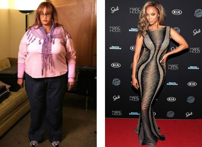 Тайра Бэнкс актрисы, звезды, полнота, пышная женщина, толстушка, успех