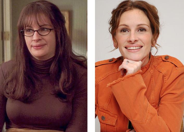 Джулия Робертс актрисы, звезды, полнота, пышная женщина, толстушка, успех