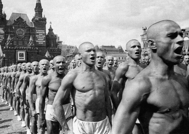 Всесоюзный парад физкультурников на Красной площади. 1937 год исторические фотографии, история, редкие фотографии