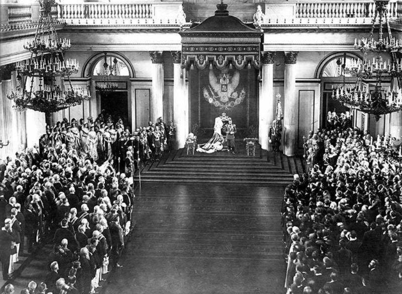 Выступление Николая II перед депутатами государственной думы. 1906 год исторические фотографии, история, редкие фотографии