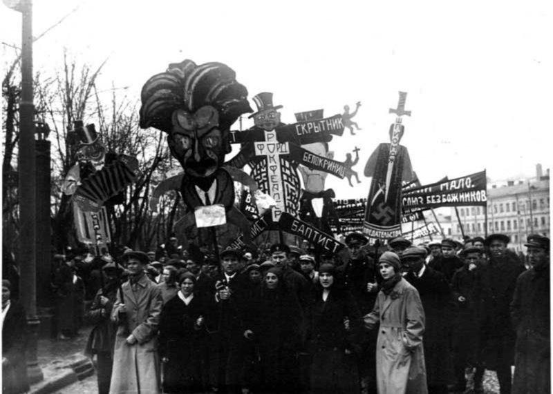 Демонстрация. 1928 год исторические фотографии, история, редкие фотографии