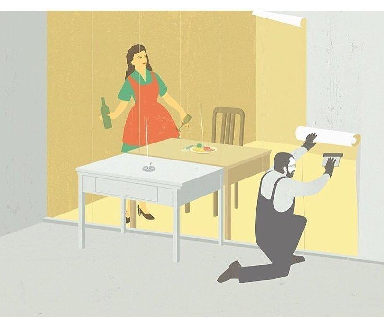 14. Идеальная жена Стефан Шмитц, иллюстрация, мир, общество, рисунок, художник