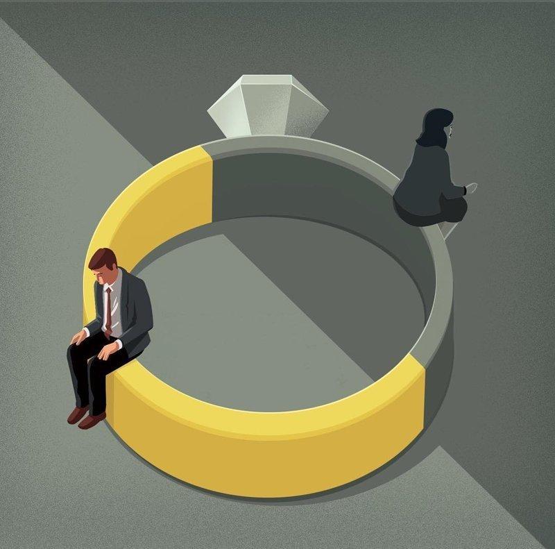 1. Неудачный брак Стефан Шмитц, иллюстрация, мир, общество, рисунок, художник