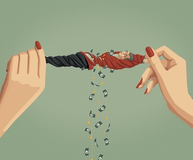 6. Об отношениях с современными хищницами Стефан Шмитц, иллюстрация, мир, общество, рисунок, художник