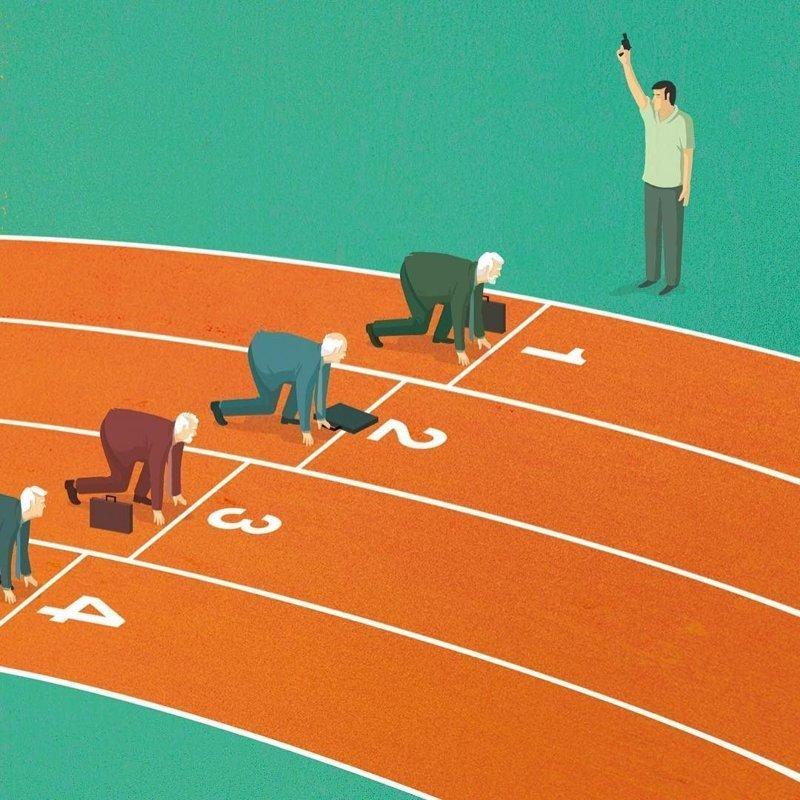 20. О проблемах с трудоустройством, с которыми сталкиваются люди старше 50 лет Стефан Шмитц, иллюстрация, мир, общество, рисунок, художник