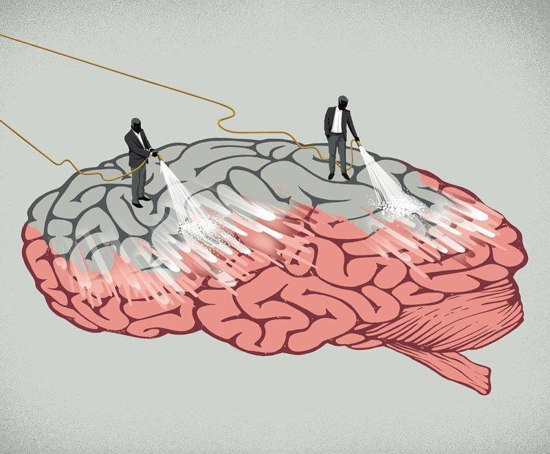 15. Промывка мозгов Стефан Шмитц, иллюстрация, мир, общество, рисунок, художник