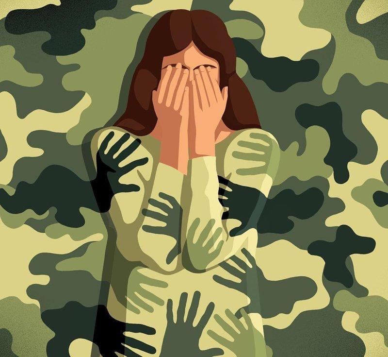 9. Сексуальные домогательства в армии Стефан Шмитц, иллюстрация, мир, общество, рисунок, художник