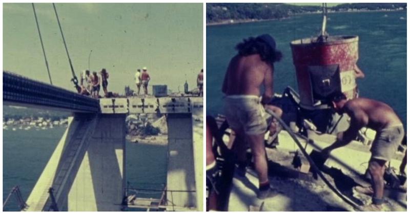 Без страховки: архивные кадры строительства моста в Новом Южном Уэльсе 47 лет назад австралия, архив, кадр, мост, рабочий, строитель, строительство