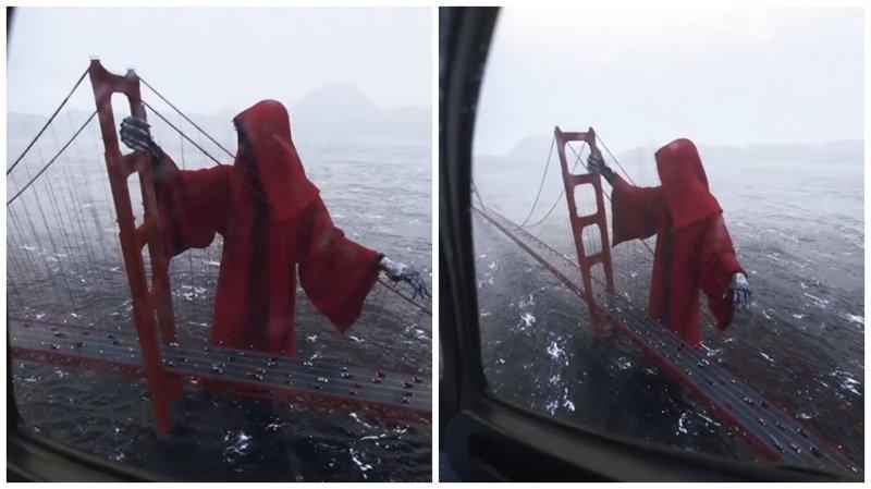 Смерть раскинула свои костлявые руки над мостом в Сан-Франциско ynews, видео, интересное, смерть, смерть в сан-франциско, технологии, фото