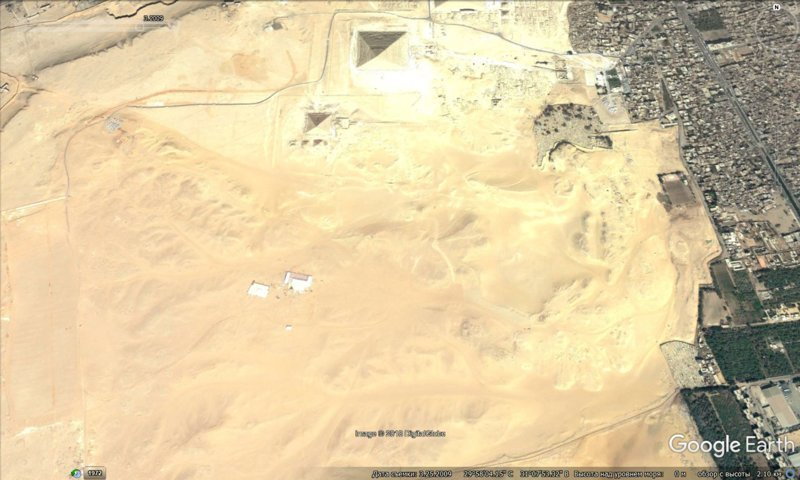 март 2009 GoogleEarth, гиза, египет, закопали, объект, сокрытие, тайна