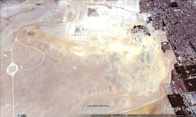 июнь 2012 GoogleEarth, гиза, египет, закопали, объект, сокрытие, тайна