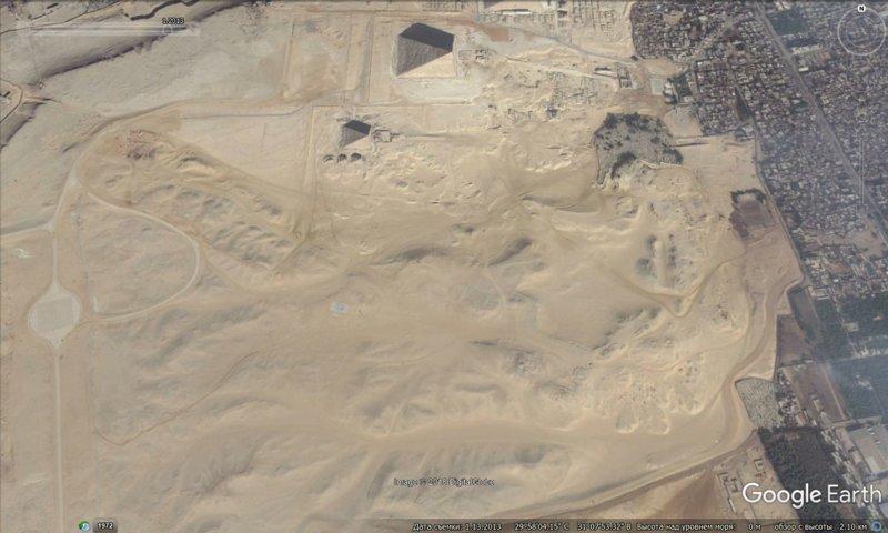 январь 2013 GoogleEarth, гиза, египет, закопали, объект, сокрытие, тайна