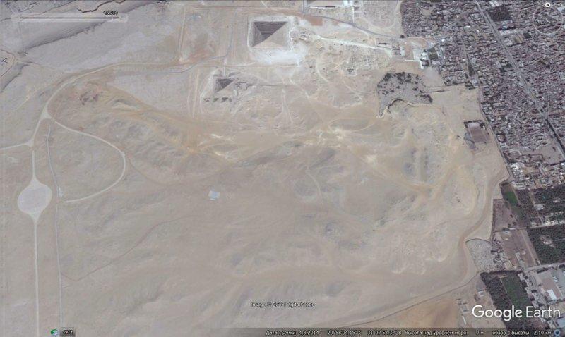 апрель 2014 GoogleEarth, гиза, египет, закопали, объект, сокрытие, тайна