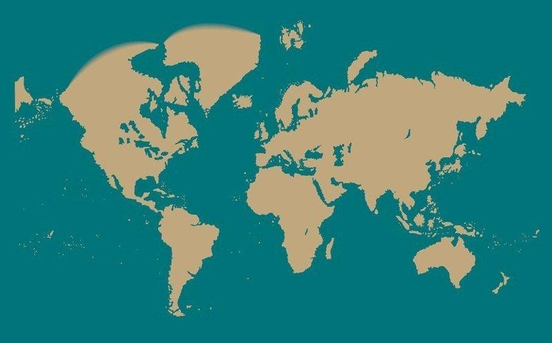 1778 год интересное, как менялась, карта, путешествие, тогда и сейчас