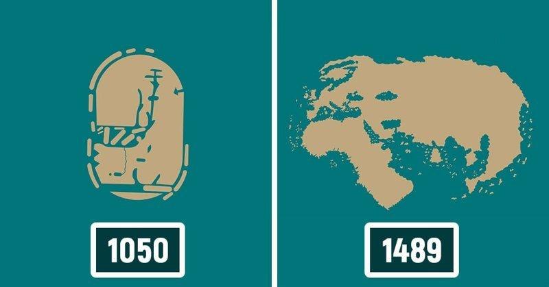 Как менялись представления о карте мира до того, как она приняла известные нам очертания интересное, как менялась, карта, путешествие, тогда и сейчас
