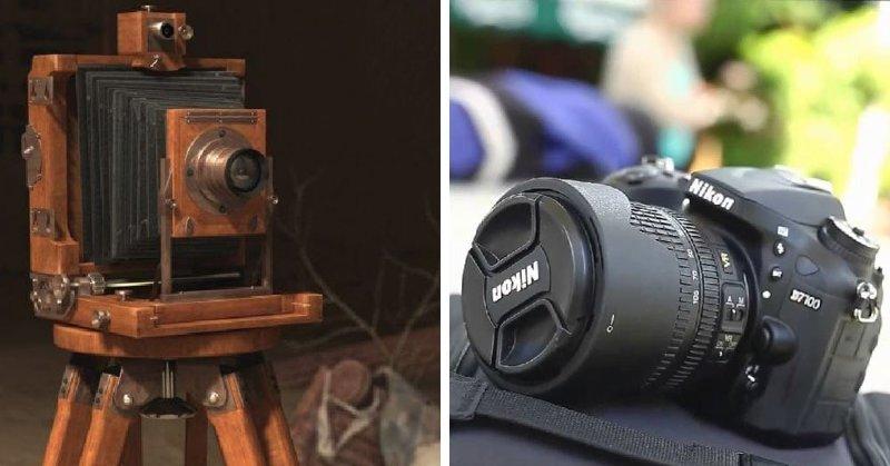 Фотоаппарат в мире, вещи, изменились, прошлое, тогда и сейчас