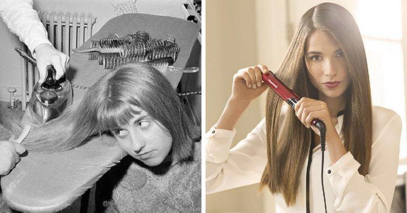 Выпрямитель для волос в мире, вещи, изменились, прошлое, тогда и сейчас