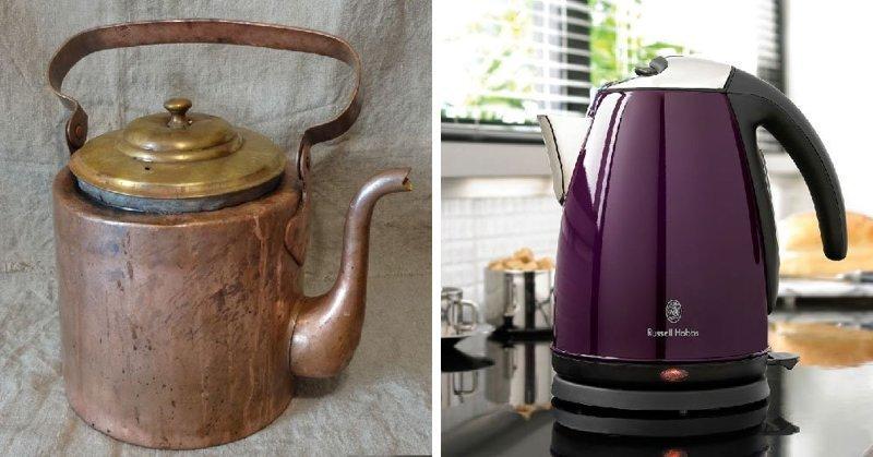 Чайник в мире, вещи, изменились, прошлое, тогда и сейчас
