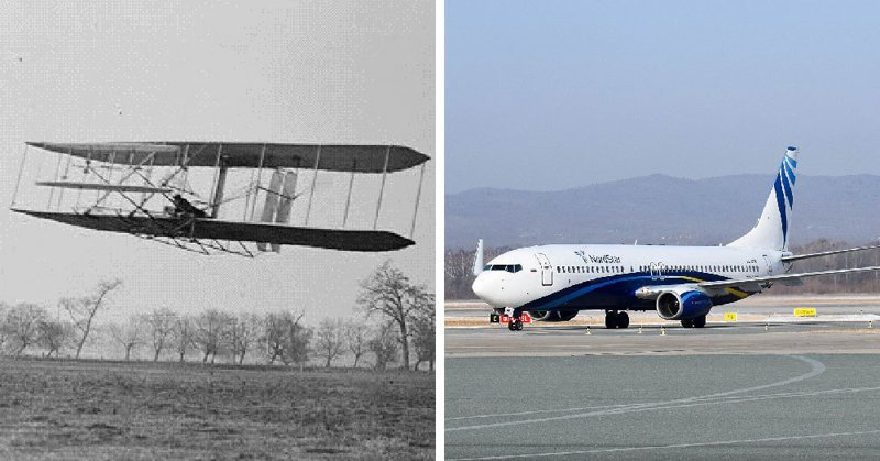 Самолёт в мире, вещи, изменились, прошлое, тогда и сейчас