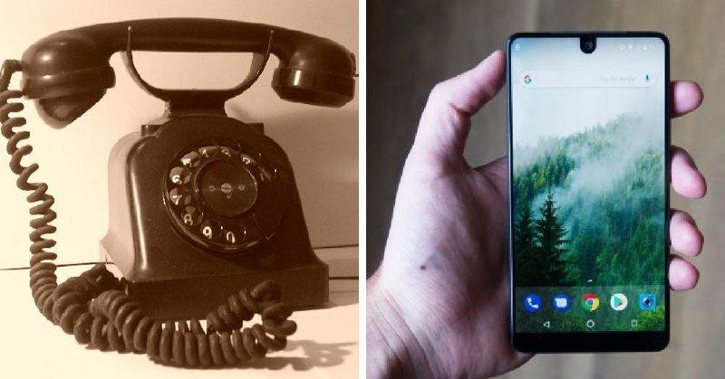 Телефон в мире, вещи, изменились, прошлое, тогда и сейчас