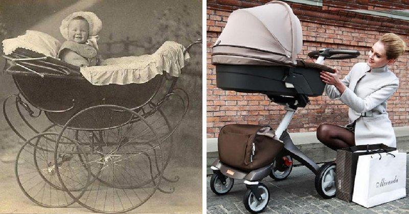 Детская коляска в мире, вещи, изменились, прошлое, тогда и сейчас