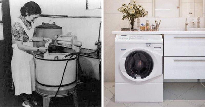 Стиральная машина в мире, вещи, изменились, прошлое, тогда и сейчас