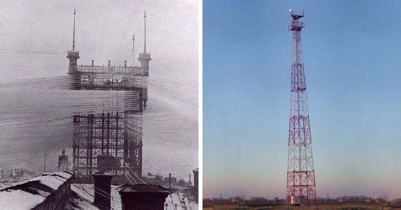 Телефонная башня в мире, вещи, изменились, прошлое, тогда и сейчас