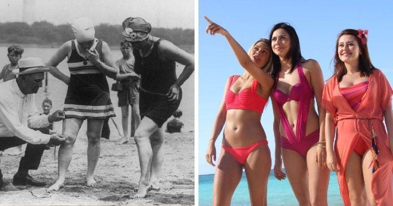 Женский купальник в мире, вещи, изменились, прошлое, тогда и сейчас