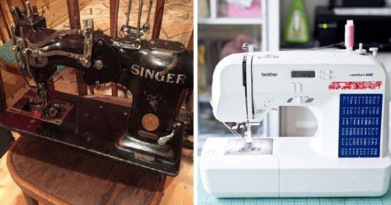 Швейная машинка в мире, вещи, изменились, прошлое, тогда и сейчас