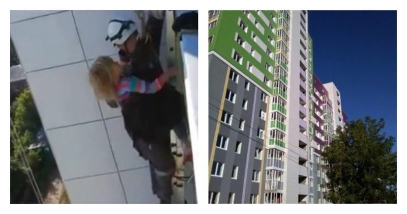 Сотрудники МЧС спасли трехлетнюю девочку, которая всю ночь просидела на козырьке крыши: видео ynews, Башкирия, мчс, падение из окна, ребенок, уфа