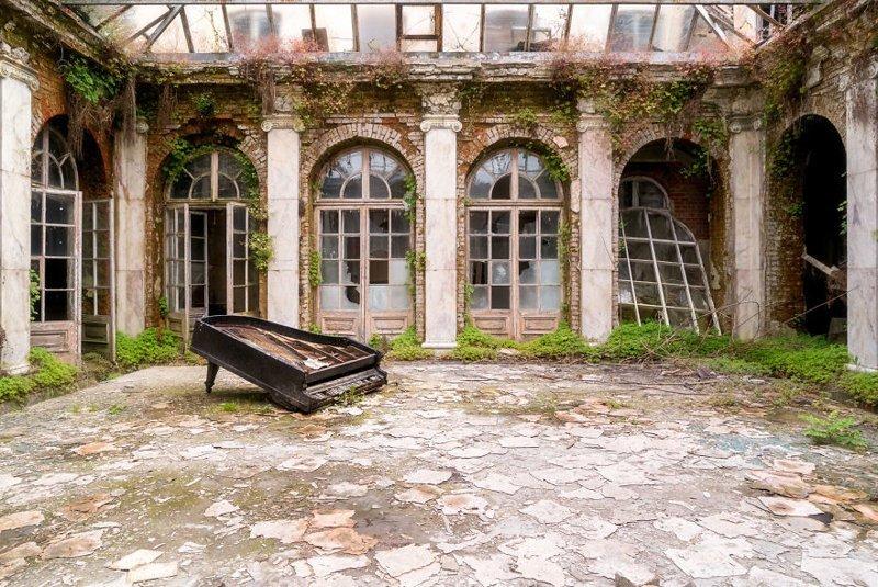 5. Внутренний дворик брошенные жилища, дворцы, заброшенные, заброшенные дома, заброшенные здания, старина старый дом, старые здания
