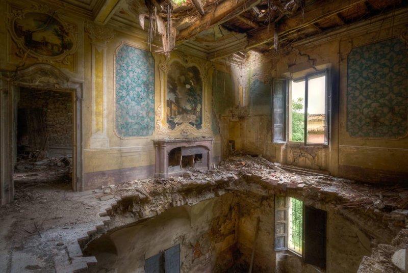25. Полуразрушенная ферма (Италия) брошенные жилища, дворцы, заброшенные, заброшенные дома, заброшенные здания, старина старый дом, старые здания