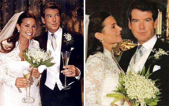 Семь лет спустя, в 2001 году, пара поженилась Броснан, Любовь, актер, годовщина, звезды, знаменитости, пара, семья