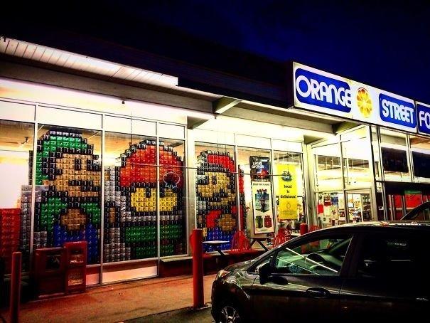 6. В этом магазине работают творческие люди вот это да!, всюду жизнь, забавные фотки, магазин, не верь глазам, странные фото, супермаркет, фото из соцсетей