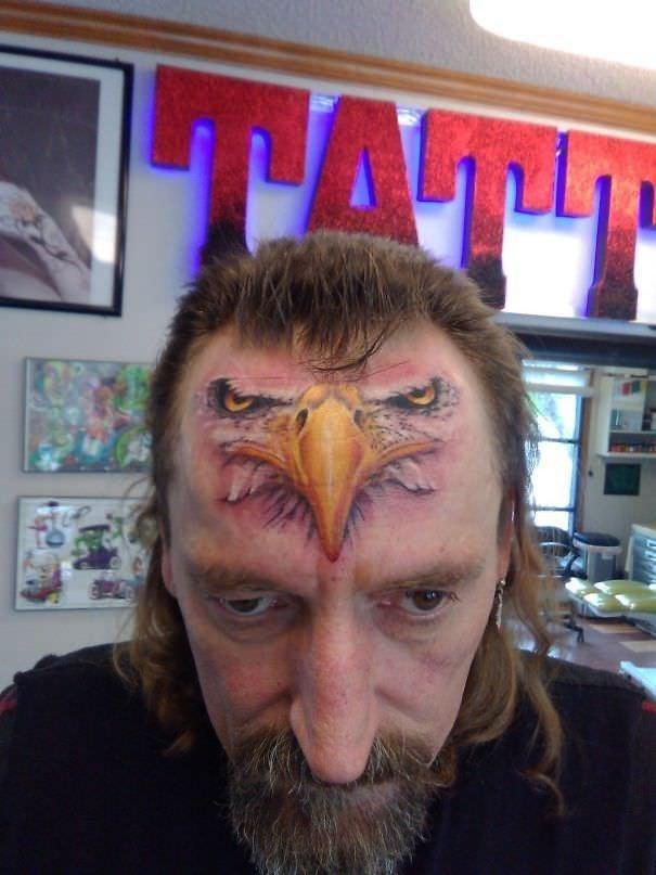 6. Настоящий орел! абсурд, ошибка, плохое качество, страх, тату, татуировка