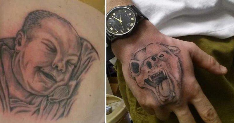 25 вариантов худших и по-настоящему пугающих татуировок в мире абсурд, ошибка, плохое качество, страх, тату, татуировка