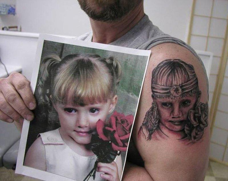 24. А тут у татуировщика хотя бы с фантазией все неплохо. Еще бы мастерства добавить. абсурд, ошибка, плохое качество, страх, тату, татуировка
