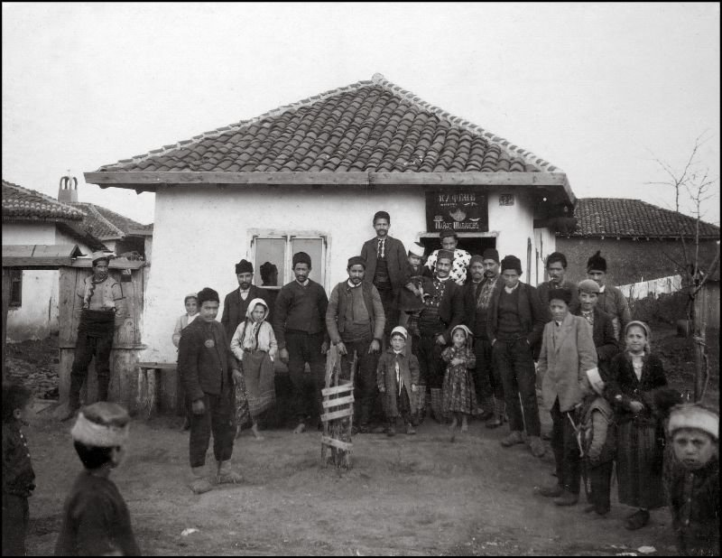 У кофейни ХХ век, балканы, болгария, история, начало века, фотография