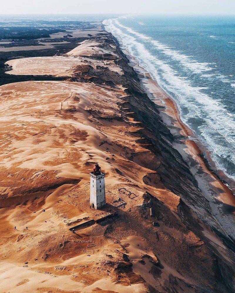 «Золотое побережье» Дании дроны, фото с высоты, фотографии с дронов, фотография
