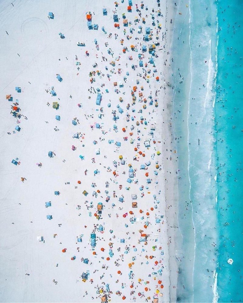 Летний пляж дроны, фото с высоты, фотографии с дронов, фотография